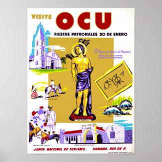 Panama Vintage Travel Poster Restored