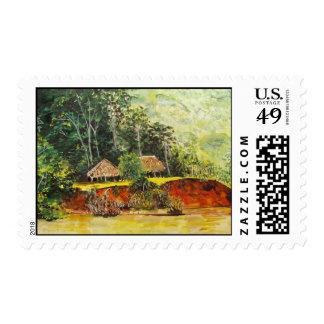 Panama Watercolor Postage Stamp