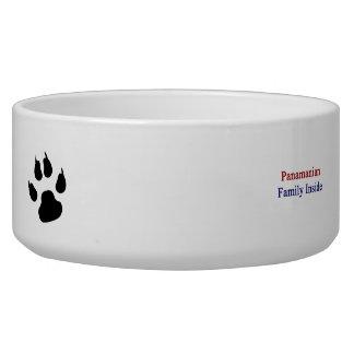 Panamanian Family Inside Dog Food Bowls