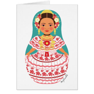 Panamanian Matryoshka Card