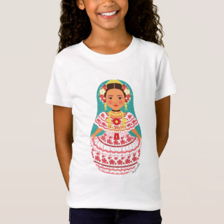 Panamanian Matryoshka Girl Baby Doll (Fitted) T-Shirt