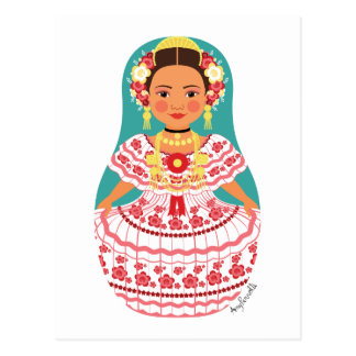 Panamanian Matryoshka Postcard