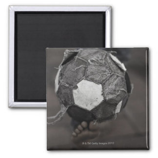 Panamanian street soccer 2 inch square magnet