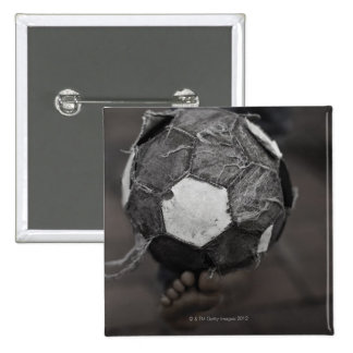Panamanian street soccer 2 inch square button