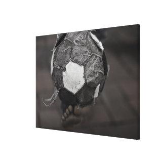 Panamanian street soccer canvas print