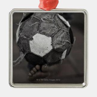 Panamanian street soccer metal ornament