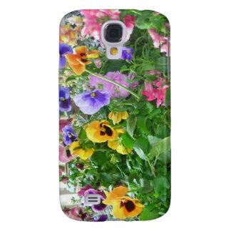 Panaromic Pansies Galaxy S4 Cover