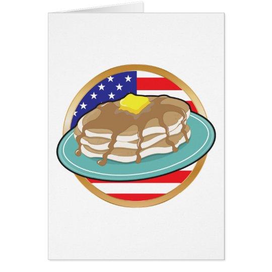 Pancake American Flag Card