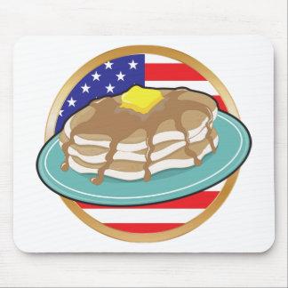Pancake American Flag Mouse Pad