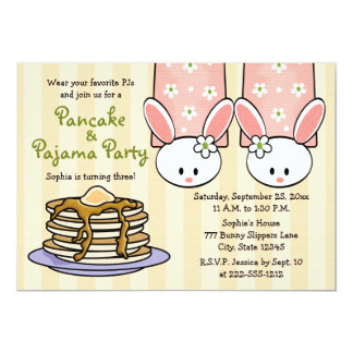 Pancake and Pajama Birthday Party Invitations