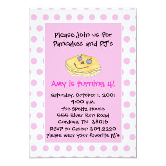 Pancake and PJ's Invitations