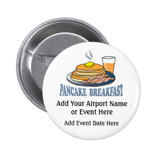 Pancake Bacon Juice Fundraiser 2 Inch Round Button