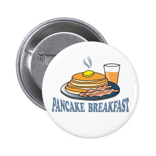Pancake Bacon Juice Fundraiser Buttons