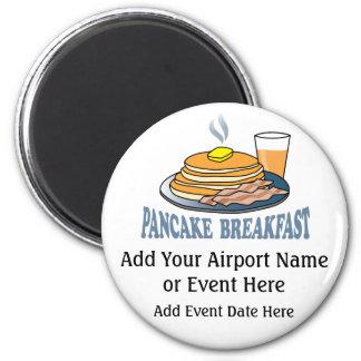 Pancake Bacon Juice Fundraiser Magnet