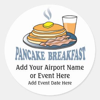 Pancake Bacon Juice Fundraiser Round Stickers