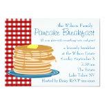 "Pancake Breakfast 5"" X 7"" Invitation Card"