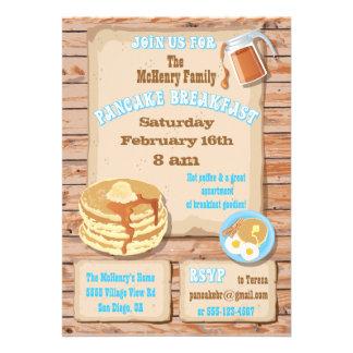Pancake Breakfast Party Invitations