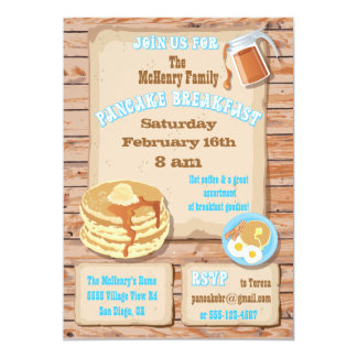 Pancake Breakfast Party Invitations