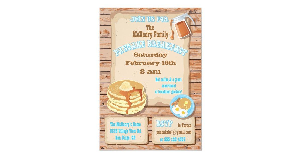 Pancake Breakfast Party Invitations | Zazzle.com