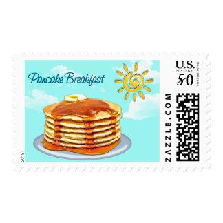 Pancake Breakfast Sun, Sky & Clouds Postage
