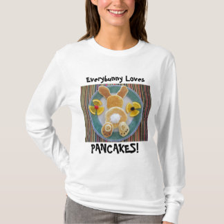 Pancake Bunny Rabbit Lover T Shirt Gift for Cooks