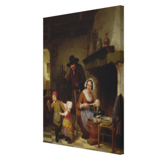 Pancake Day, 1845 Canvas Print