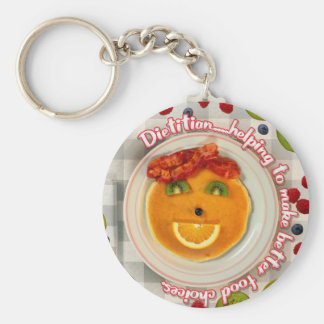 PANCAKE FACE DIETITIAN KEYCHAIN