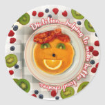 PANCAKE FACE DIETITIAN ROUND STICKERS