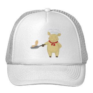 Pancake Flipping Pig Chef Trucker Hat