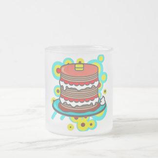 Pancake Frosted Glass Coffee Mug