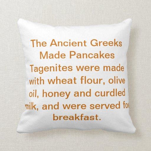 Pancake History Pillow