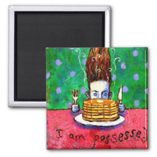 Pancake Possession 2 Inch Square Magnet