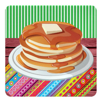 Pancake Supper - Fat Tuesday Card