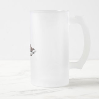 pancakes and maple syrup 16 oz frosted glass beer mug