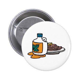 pancakes and maple syrup 2 inch round button