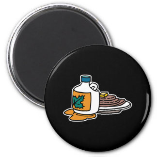 pancakes and maple syrup 2 inch round magnet