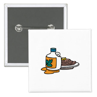 pancakes and maple syrup 2 inch square button