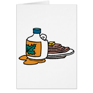 pancakes and maple syrup greeting card