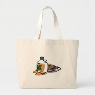 pancakes and maple syrup jumbo tote bag