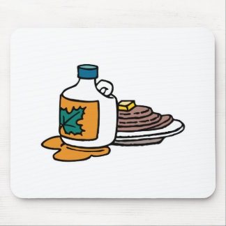 pancakes and maple syrup mouse pad