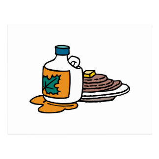 pancakes and maple syrup postcard