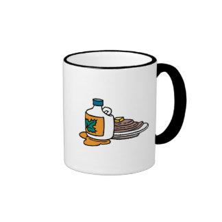 pancakes and maple syrup ringer coffee mug