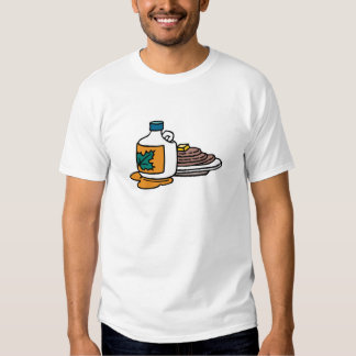 pancakes and maple syrup tee shirts