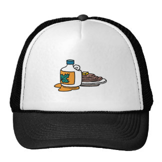 pancakes and maple syrup trucker hat