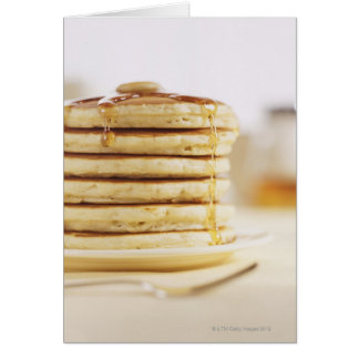 Pancakes and Melting Maple Syrup Card