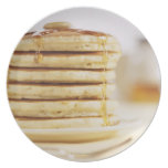 Pancakes and Melting Maple Syrup Dinner Plate