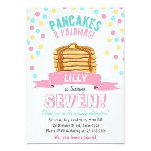 Pancakes and pajamas invitations announcements zazzle pancakes and pajamas birthday party invitation filmwisefo