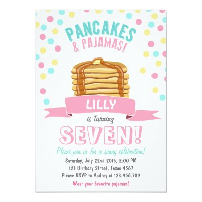 Pancakes and pajamas birthday thank you card zazzle filmwisefo