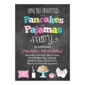 Pancakes and Pajamas Chalkboard Style Invitation