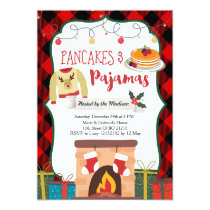 Pancakes and Pajamas Christmas Party Invitation